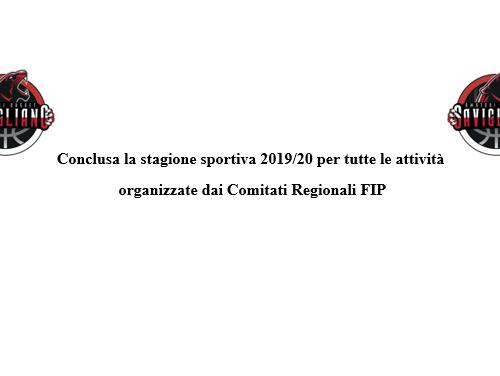 Conclusa la stagione 2019-20